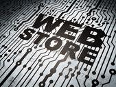Web design concept: circuit board with Web Store — Stock Photo