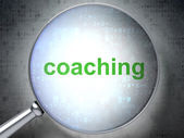 Education concept: Coaching with optical glass — Stock Photo