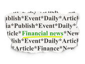 News concept: Financial News on Paper background — Stock Photo