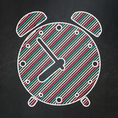 Timeline concept: Alarm Clock on chalkboard background — Foto Stock