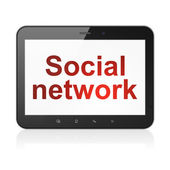 Social network concept: Social Network on tablet pc computer — Stock Photo