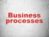 Business concept: Business Processes on wall background — Stock Photo
