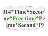 Time concept: Free Time on Paper background — Zdjęcie stockowe