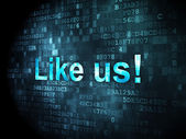 Social network concept: Like us! on digital background — Stock Photo