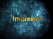 Marketing concept: Impression on digital background — 图库照片