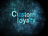 Advertising concept: Customer Loyalty on digital background — Stock Photo