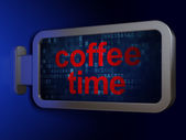 Timeline concept: Coffee Time on billboard background — Stok fotoğraf