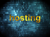 Seo веб дизайн концепции: хостинг на фоне цифровой — Стоковое фото