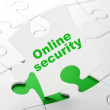 Safety concept: Online Security on puzzle background — Stock Photo
