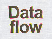 Information concept: Data Flow on fabric texture background — Stock Photo