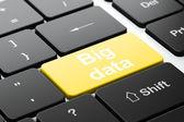 Information concept: Big Data on computer keyboard background — Foto Stock