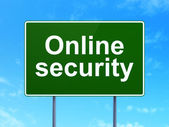 Safety concept: Online Security on road sign background — Foto Stock