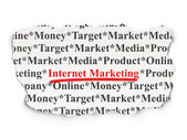 Advertising concept: Internet Marketing on Paper background — Stock Photo