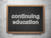 Education concept: Continuing Education on chalkboard background — Stock Photo