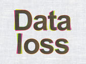 Information concept: Data Loss on fabric texture background — Foto Stock