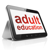 Education concept: Adult Education on tablet pc computer — 图库照片