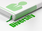 Finance concept: book Business Man, Diversity on white background — Stock Photo