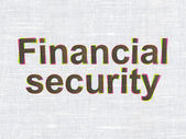 Safety concept: Financial Security on fabric texture background — Stockfoto