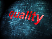 Advertising concept: Quality on digital background — Stock Photo