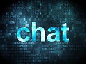 SEO web development concept: Chat on digital background — Stock Photo