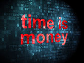 Timeline concept: Time is Money on digital background — Foto Stock