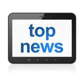News concept: Top News on tablet pc computer — Foto Stock