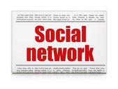 Social media concept: newspaper headline Social Network — Stock Photo