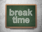 Timeline concept: Break Time on chalkboard background — 图库照片