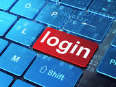 Safety concept: Login on computer keyboard background — Stock Photo