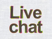 Web development concept: Live Chat on fabric texture background — Photo