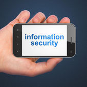 Safety concept: Information Security on smartphone — 图库照片