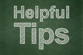 Education concept: Helpful Tips on chalkboard background — Foto de Stock