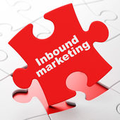 Finance concept: Inbound Marketing on puzzle background — Stock Photo