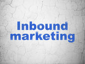 Finance concept: Inbound Marketing on wall background — Stock Photo