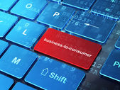 Business concept: Business-to-consumer on computer keyboard background — Stock fotografie