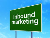 Business concept: Inbound Marketing on road sign background — Stock Photo