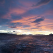 Pink sunset over the Beagle Channel. — Stock Photo