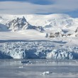 Stock Photo: The glaciers on the coast of the western Antarctic Peninsula a s