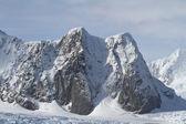 Mountains of the Antarctic Peninsula summer day — Stock Photo