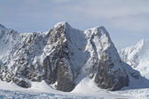 Mountains of the Antarctic Peninsula summer day — Stock Photo