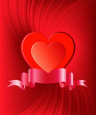 Heart background — Vettoriale Stock