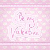正方形のバレンタイン カード — ストックベクタ