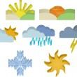 3d Weather Icons — Stock Vector