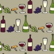Wine Seamless background tile in Cartoon Style — Stock Vector
