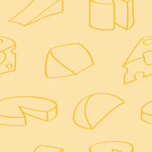 Cartoon Cheese Seamless Background — Stock Vector