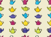 Teapots Seamless Background — Stock Vector