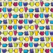 Drinking Mugs Seamless Background — Imagen vectorial