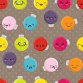 Seamless Cartoon Kawaii Bauble Background — Stockvector