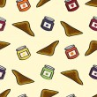 ストックベクタ: Toast and Jelly Seamless Background