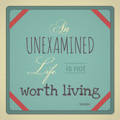 An Unexamined Life is Not Worth Living — Stock Vector